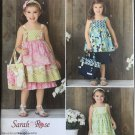 SIMPLICITY 2171 SEWING PATTERN FOR CHILD'S DRESS, TOP, BAG, & HAIR ACCESSORY, SIZE 3-8