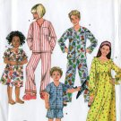 SIMPLICITY 3987 SEWING PATTERN FOR CHILD'S GIRL'S/BOYS PAJAMAS SZ 7-14