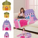 SIMPLICITY 8033 SEWING PATTERN FOR RAG QUILT-Acorn House, Castle......