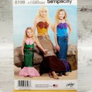 Simplicity 8198 Childs Girls Misses Mermaid Halloween Costume Pattern