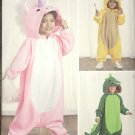Simplicity 8527 Child's Costume Animal Jumpsuit -Bear, Unicorn & Dinosaur Sz 3-8