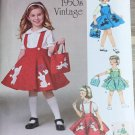 SIMPLICITY 1075 Sewing pattern for Child's Jumper, Skirt and Bag  SZ 3, 4, 5, 6, 7, 8