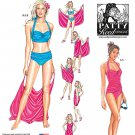 Simplicity 1374 MISSES' TWO PIECE SWIMSUITS AND BEACH COVER -UP   SZ 6 - 14