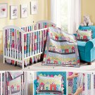 Simplicity 1384 Sewing Pattern for Crib Sheet, Dust Ruffle, Quilt, Pillow & Vertical Bumbers