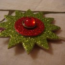 """""""starburst - green & red with red jewel"""""""