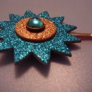 """""""starburst - blue & gold with blue jewels"""""""