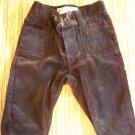Girls 6 months black velvet pants