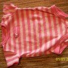 3m pink striped onsie