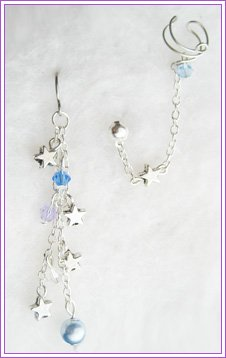 Blue Dangle Star Cuff Earring #202