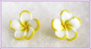 FPC Yellow Flowers Stud #312