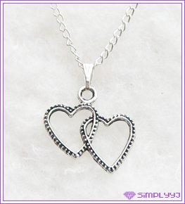 Double Open Heart Necklace #520