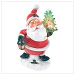 Light-Up Santa Figurine