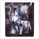 Wildlife Wolve Fleece Blanket