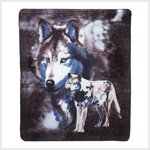 Wildlife Wolve Fleece Blanket