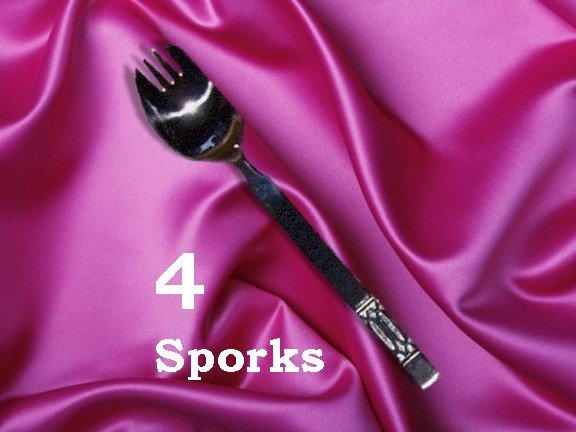 Metal Stainless Steel Sporks (4) Set of Four (out of stock)