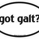 Got Galt Oval Car Sticker