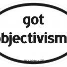 Got Objectivism Oval Car Sticker