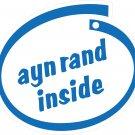Ayn Rand Inside Oval Car Sticker