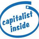 Capitalist Inside Oval Car Sticker