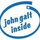 John Galt Inside Oval Car Sticker
