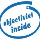 Objectivist Inside Oval Car Sticker