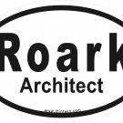 Roark Architect Oval Car Sticker