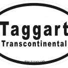 Taggart Transcontinental Oval Car Sticker