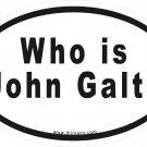 Who Is John Galt Oval Car Sticker