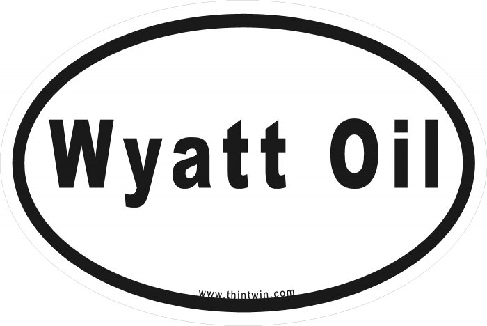 Wyatt Oil Oval Car Sticker