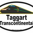 Taggart Transcontinental Skyline Oval Car Sticker