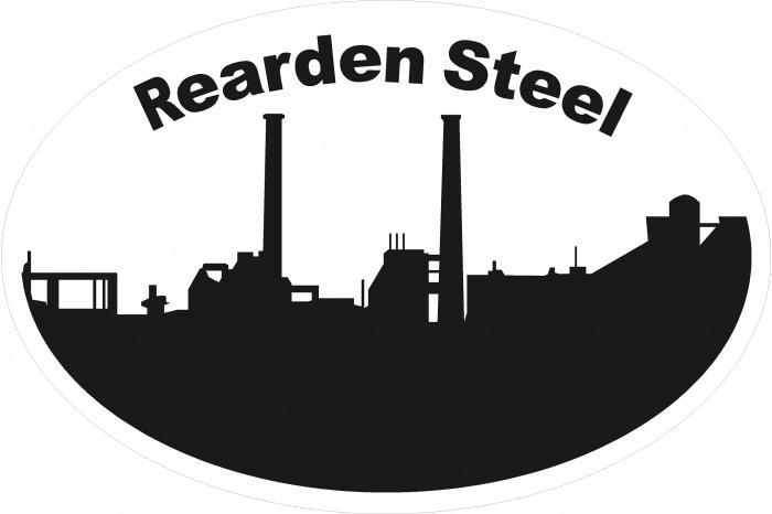 Rearden Steel Skyline Oval Car Sticker