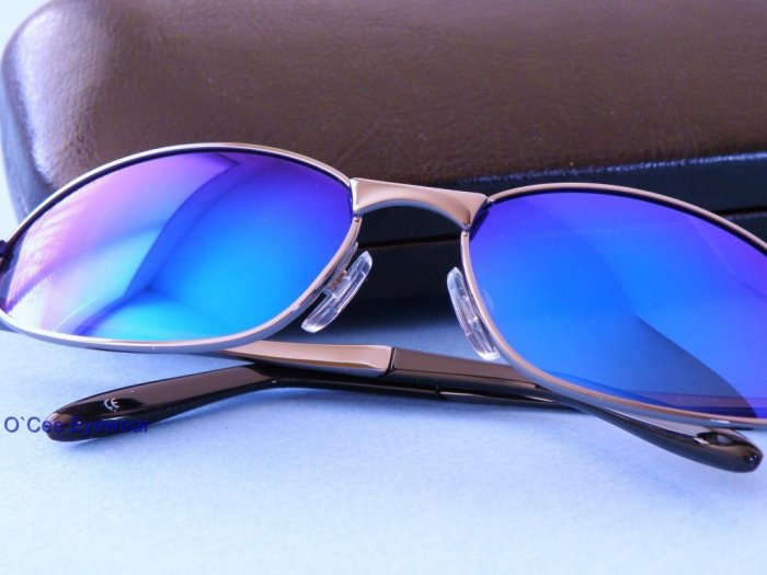 SALE $13 OFF!! New POLARIZED Sunglasses BLUE MIRROR LENS w/ Revo Coating 7592BC
