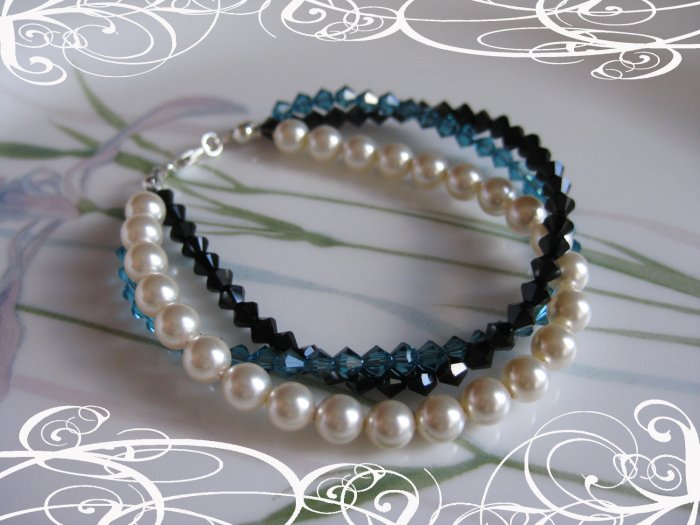 Pearl and Crystal Bracelet