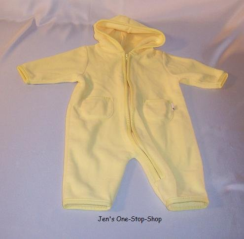 Old Navy, yellow snowsuit, 0-3 months