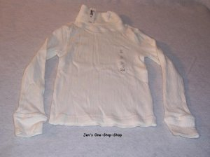 Girls white long sleeved, Old Navy, turtleneck, size XS (5) - NWT