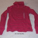 Girls pink/gray long sleeved, Old Navy turtleneck, size XS (5) - NWT