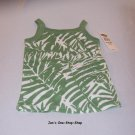 Girls 18-24 month Old Navy green & white tank top - NWT