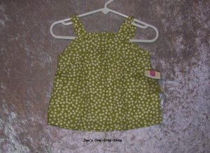 Girls 12 month Cherokee polka dot tank top - NWT