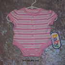 Girls Preemie Baby Connection pink striped onsie - NWT