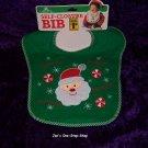 Cribmates green Christmas bib - NEW