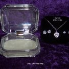 Cubic Zirconia necklace and earrings set - NEW