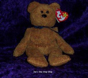 Fuzz the Bear beanie baby - NWMT