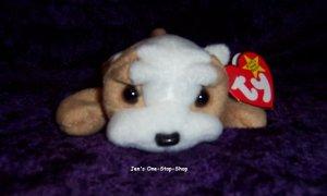 Wrinkles the Bulldog beanie baby - NWMT