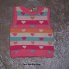 Girls 18 month, TKS, pink vest - NWT