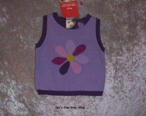Girls 18 month, TKS, purple vest - NWT