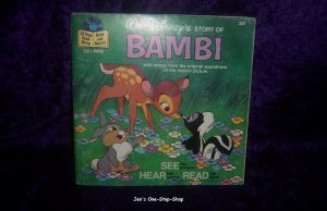 """Disney's """"Bambi"""" Book and Record"""