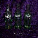 Set of 3 old Coca-Cola bottles