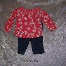 Girls 6-12 month shirt & pants set
