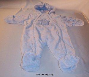Peek-A-Babe, light blue snowsuit, size 3-6 months