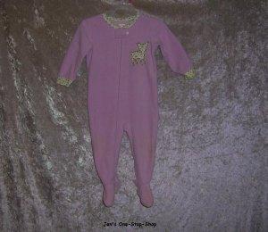 Girls 12 month light purple Carter's footed sleeper